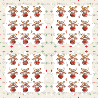 Rudolph GingerBread Pattern