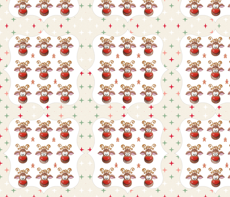 Rudolph GingerBread Pattern fabric by imagine_cg_images on Spoonflower - custom fabric