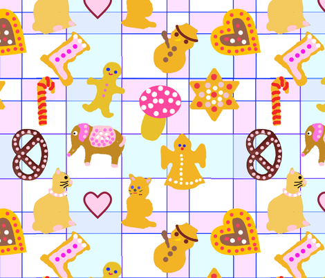 Gingerbread Love fabric by ruthjohanna on Spoonflower - custom fabric