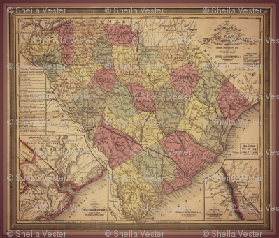 South Carolina map, large