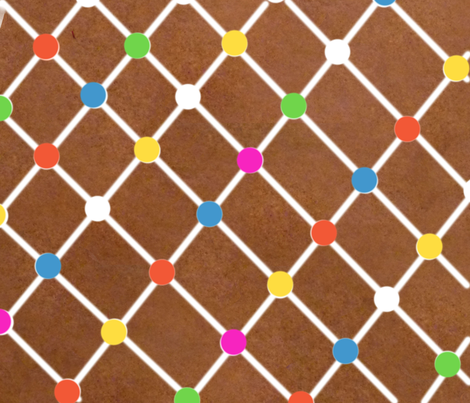 Gingerbread Roof fabric by djean on Spoonflower - custom fabric