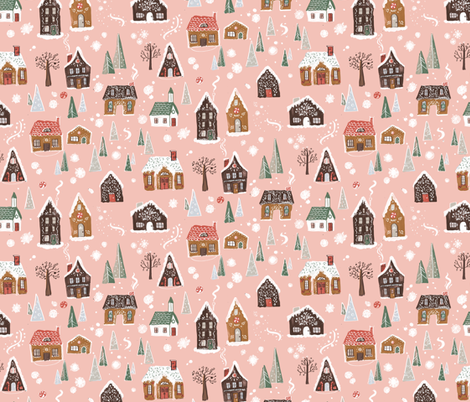 GingerbreadVilliage fabric by thestorysmith on Spoonflower - custom fabric