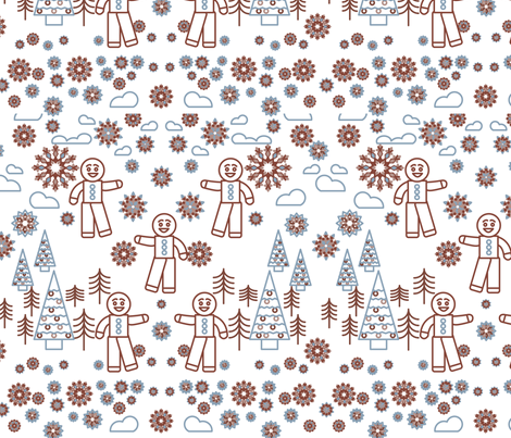 Gingerbread-for-Spoonflower fabric by annelafollette on Spoonflower - custom fabric