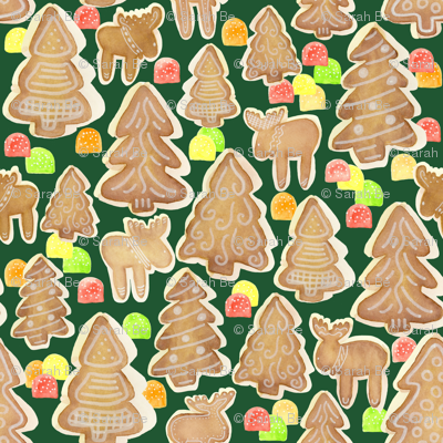 Gingerbread Trees Moose and Gumdrops