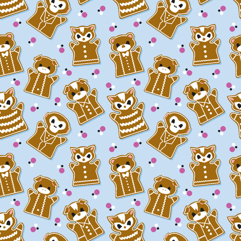 Gingerbread Parade fabric by jewelraider on Spoonflower - custom fabric