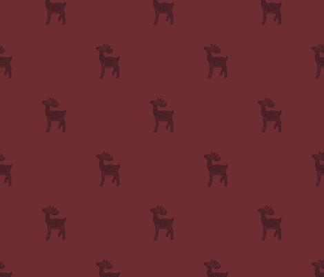 Red Reindeer  fabric by paperondesign on Spoonflower - custom fabric