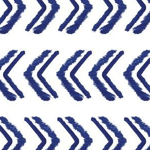 Geometric Indigo Arrow