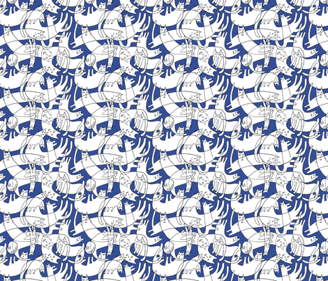 catcraze fabric by kimmurton on Spoonflower - custom fabric