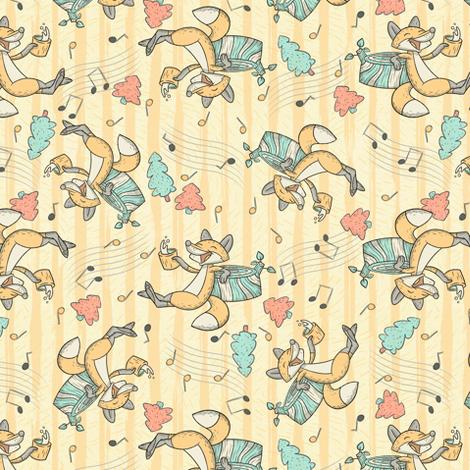 Jolly Fox fabric by hollybender on Spoonflower - custom fabric
