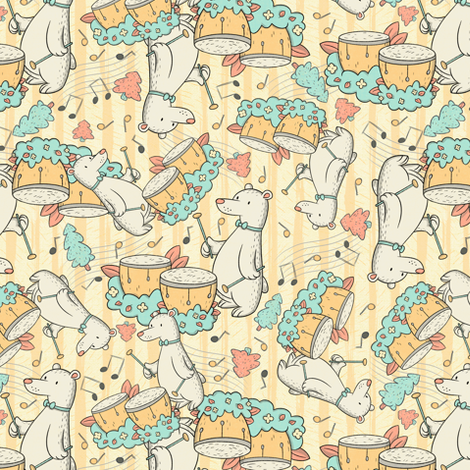 Timpani Bear fabric by hollybender on Spoonflower - custom fabric
