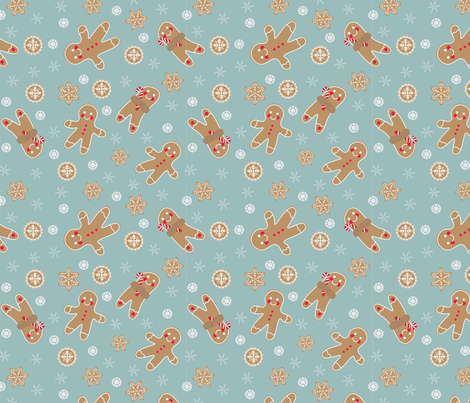 Gingerbreads fabric by missdachner on Spoonflower - custom fabric