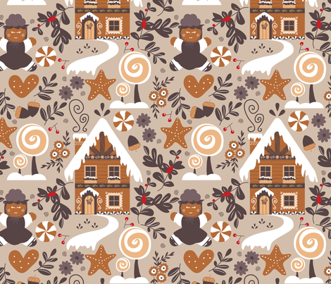 black forest gingerbread fabric by nanamira on Spoonflower - custom fabric