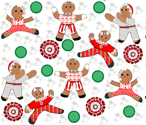 Dancing Gingies! fabric by gracelillydesigns on Spoonflower - custom fabric