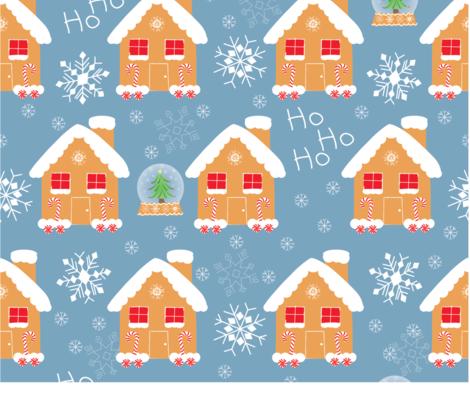 Gingerbread fabric by aliwilkinsondesigns on Spoonflower - custom fabric