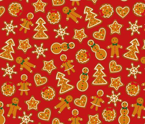 Gingerbread fabric by svetlana_prikhnenko on Spoonflower - custom fabric