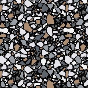 Terrazzo on black Medium Scale