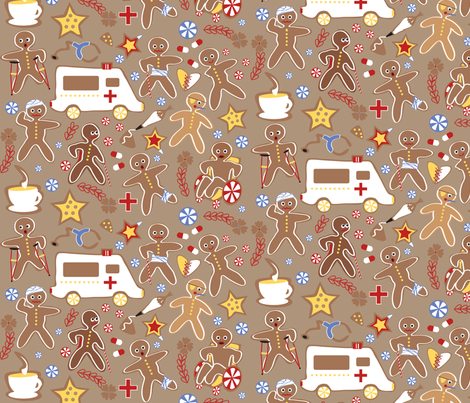 Gingerbread Casualties fabric by colour_angel_by_kv on Spoonflower - custom fabric