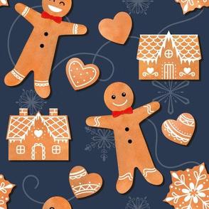 Watercolour Winter Gingerbread