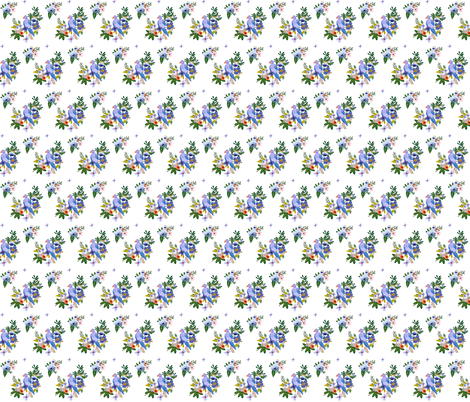 "2"" Kauai Blooms White fabric by shopcabin on Spoonflower - custom fabric"