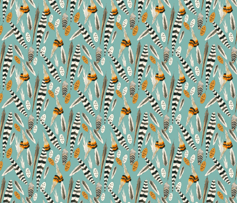 Fine Feathers fabric by washburnart on Spoonflower - custom fabric