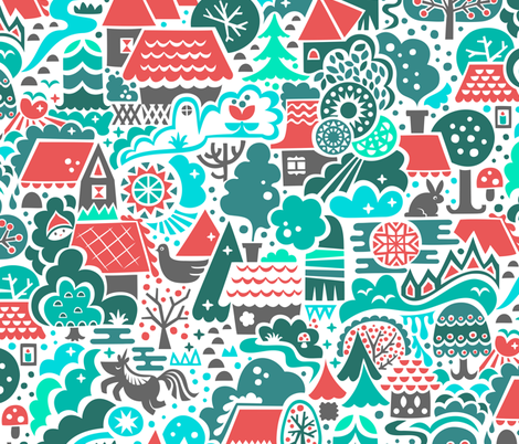 Deep in the Gingerbread Woods fabric by studio_amelie on Spoonflower - custom fabric
