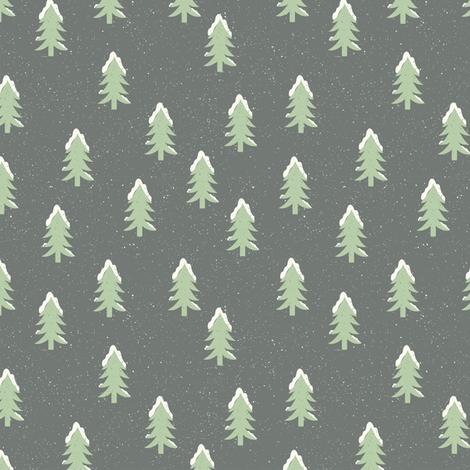 Winter - Trees fabric by malibu_creative on Spoonflower - custom fabric