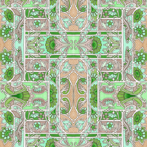 Minute Minuet Garden fabric by edsel2084 on Spoonflower - custom fabric