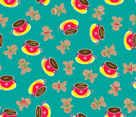 Emoji Gingerman fabric by may_leong on Spoonflower - custom fabric