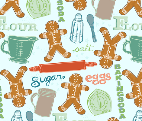 Bake As Fast As You Can fabric by amberlynnbenton on Spoonflower - custom fabric