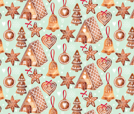 Nordic Gingerbread fabric by ohn_mar on Spoonflower - custom fabric