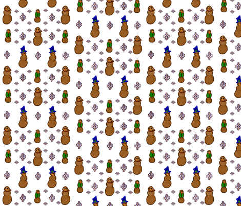 gingerbread snow fabric by fusionedesign on Spoonflower - custom fabric