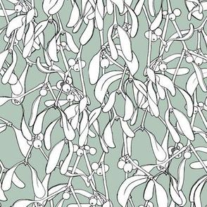 Winter Mistletoe Pattern Turf
