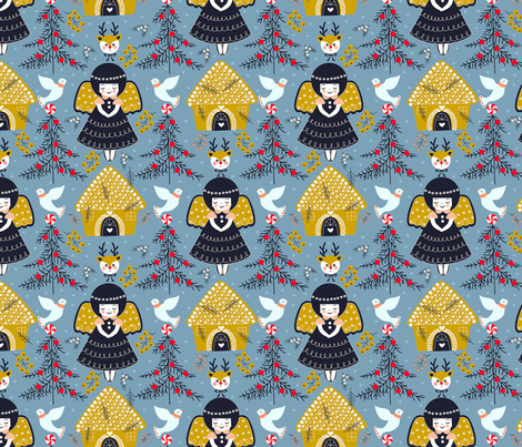 Gingerbread  fabric by theboutiquestudio on Spoonflower - custom fabric
