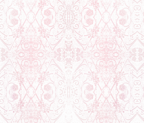 Garden_Gate_white-pink fabric by wildwood-design-studio on Spoonflower - custom fabric