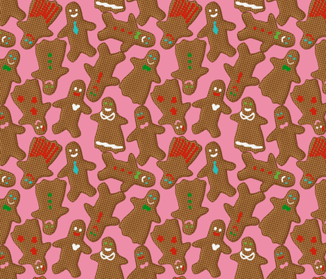 Gingerbread Decorating Party fabric by bloomingwyldeiris on Spoonflower - custom fabric