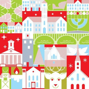 FXBG Holidays - red, green, and blue