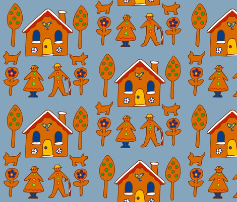 gingerland fabric by katebartholomew on Spoonflower - custom fabric
