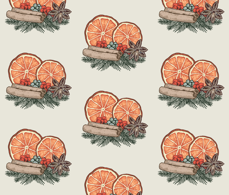 Winter spices fabric by marbim on Spoonflower - custom fabric