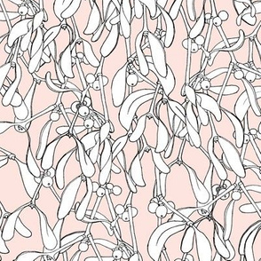 Winter Mistletoe Pattern Nude