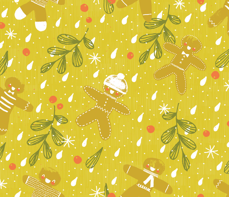 Milk and Cookies  M+M Apple by Friztin fabric by friztin on Spoonflower - custom fabric
