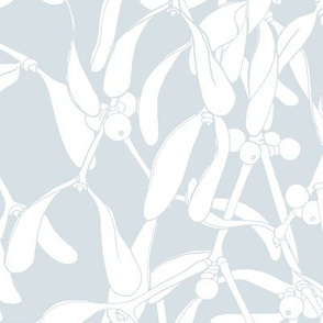 Winter Mistletoe Pattern Pale Grey Big