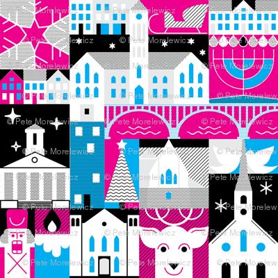 FXBG Holidays - pink, blue, and black