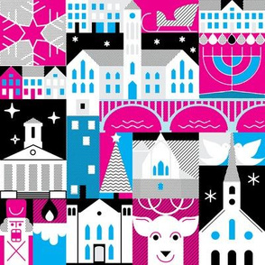 FXBG Holidays - pink, blue, and black