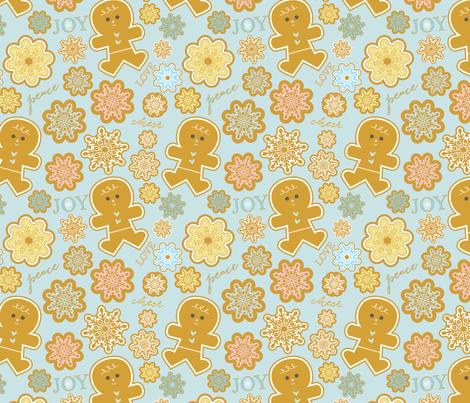 Gingerbread Winter fabric by jenniferjacksonlee on Spoonflower - custom fabric