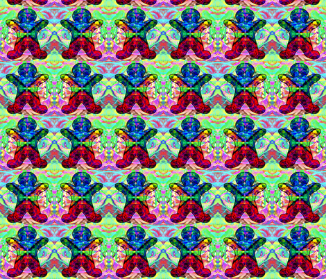 Gingerbread on Parade: Kaleidoscope Love fabric by dovetail_designs on Spoonflower - custom fabric