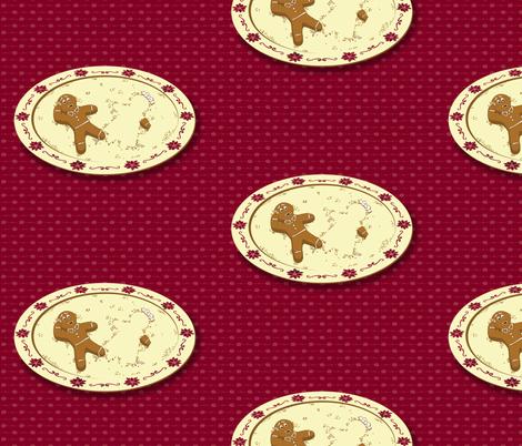 Gingerbread Chivalry ~ Ladies First! fabric by mamagiraffe on Spoonflower - custom fabric