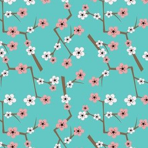 Cherry Blossom Turquoise