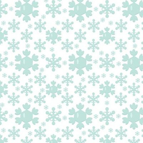 Woodland Christmas Blue Snowflake