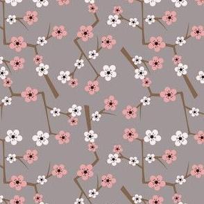 Cherry Blossom Soft Gray