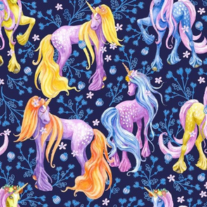 Unicorn Pattern Dark